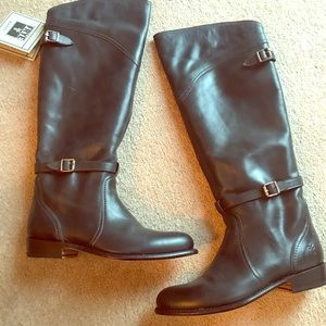 NWT Frye Dorado Riding Boots (Charcoal)